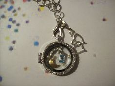 Blue police box locket Memory Necklace by SisterHoodCandles