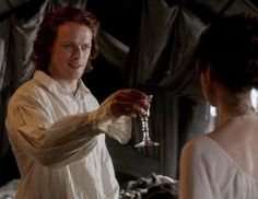 "Jamie begins a toast to his bride Claire Frazer: ""To a lady of grace..."" 