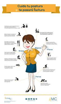 #Infografia ilustrativa sobre como mejorar las posibles #lesiones músculo-esqueléticas que pueden afectar a los trabajadores del sector servicio