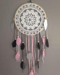dreamcatcher attrape reve romantique accessoires de maison par pamalaka attrape r ves. Black Bedroom Furniture Sets. Home Design Ideas