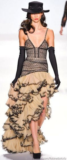 Project Runway Fall/Winter 2013-14. Would be excellent, if the boobs fit, and weren't so baggy and saggy.
