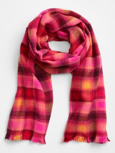 Cozy Scarf, Plaid Scarf, Gap Outfits, Gap Women, Fashion Looks, Lily, Blouses, Shopping, Blouse