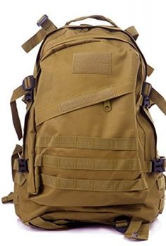HDE-Heavy-Duty-30L-Outdoor-Sport-Military-Tactical-Camping-Hiking-Backpack-Tan-0