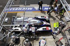 #8 Toyota Hybrid comes in for a Fuel Stop.