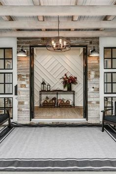 Maxwell modern farmhouse home home entryway, dramatic home foyer, dramatic front Entryway Table Modern, Rustic Entryway, Entry Tables, Entryway Console, Console Tables, Farmhouse Homes, Modern Farmhouse, Farmhouse Style, Feature Wall Design