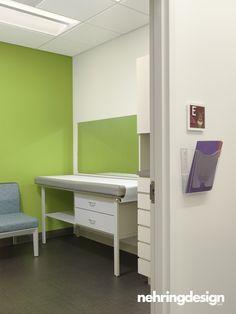 Colorful Hallway And Exam Room At The Karabots Pediatric