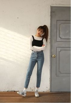 awesome Korean Daily Fashion by http://www.globalfashionista.xyz/korean-fashion-styles/korean-daily-fashion-2/