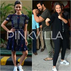 SEE PICS: Alia opts for a quirky look, John-Sonakshi goof around during promotions!