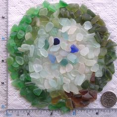 275 Small Sea Glass Shards Imperfections Art by TidelineDesigns