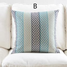 Nordic style Geometric throw pillow for home blue abstract sofa cushions