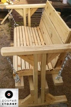 Woodworking Ideas Wood rocking bench - WOODEN PALLET FURNITURE – As you could or can unknown, a wooden pallet is amongst one of one of the most versatile points ever. Pallet furniture takes an infinity of types in addition to coul… Wooden Swing Bench, Wooden Swings, Bench Swing, Porch Swing Frame, Reclaimed Wood Benches, Outdoor Furniture Plans, Wooden Pallet Furniture, Modern Furniture, Rustic Furniture