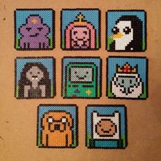 Adventure Time coasters hama beads by spriteplanet