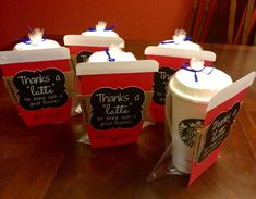 """Thanks a """"latte"""" for being a great teacher!  with Starbucks gift card and reusable cup filled with Tazo tea packs #diy #thanks #thankyou #thanksalatte #latte #teacher #teacherappreciation #starbucks #coffee #tea #school #greatteacher #gift #glasscoffeecup"""