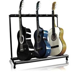 Designed to keep nearly any guitar safe and organized, this stand is perfect for the entire band! Best Choice Products Folding Storage Stand Rack for Acoustic, Bass, Electric Guitars w/ Padded Foam Rails. Guitar Storage, Guitar Rack, Guitar Stand, Cool Guitar, Bass Ukulele, Bass Guitars, Guitar Songs, Acoustic Guitar Case, Sharpie