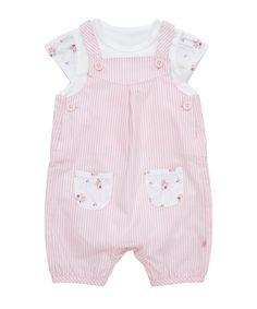 Mothercare Pink Woven Bibshort Set