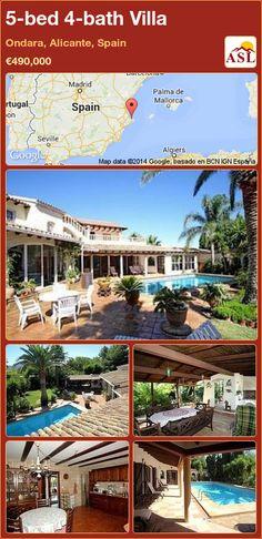 5-bed 4-bath Villa in Ondara, Alicante, Spain ►€490,000 #PropertyForSaleInSpain