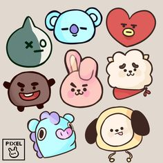 Stickers (BTS) sold by Pixel Palette. Pop Stickers, Anime Stickers, Tumblr Stickers, Kawaii Stickers, Printable Stickers, Korean Stickers, Homemade Stickers, Journal Stickers, Bts Drawings