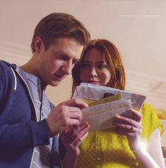 Rory and Amy. I love the way Amy is looking at him.