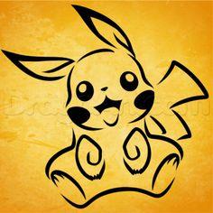 How To Draw Tribal Pikachu by Dawn Tribal Drawings, Tribal Art, Cool Drawings, Olaf Drawing, Snoopy Drawing, Tribal Pokemon, Pikachu Ears, Pokemon Painting, Pokemon Tattoo