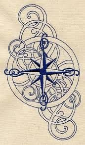 lace compass tattoo - Google Search