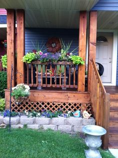 Front porch planter ideas Summer front porch decorating