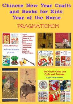 Chinese New Year crafts and books for kids ~ Recommended by Pragmatic Mom ~ Kid Lit Blog Hop