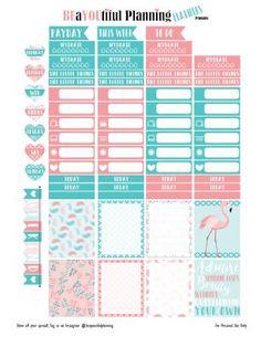 Free Feathers Printable Planner Stickers