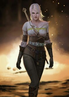 ciri from the witcher 3 Fantasy Female Warrior, Fantasy Rpg, Medieval Fantasy, Dark Fantasy Art, Ciri Witcher, Witcher Art, The Witcher Wild Hunt, The Witcher Game, Character Portraits