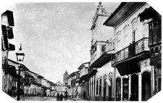 Rua do Rosário, 1862 (atual rua Quinze de Novembro). (Militão Augusto de Azevedo)