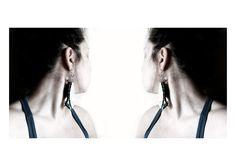 leather earrings  by eli's fantasy handmade jewelry
