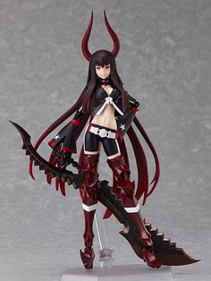 【Black Rock Shooter】figma - Black Gold Saw TV Animation ver.  [Release Date]late March-2013  URL: http://aikoudo.com/goods_en_11300.html