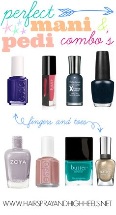 Perfect Manicure & Pedicure combo's #nails #beauty #nails                                                                                                                    Hairspray and HighHeels