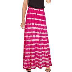 Agan Traders Womens Boho Gypsy Convertible Knit Waist Band Cotton Tie Dye Balloon Ripple Long Maxi Skirt