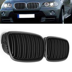 Matte Black Pair Front Grilling Bumper Hood For BMW E70 X5 E71 X6 07-13 #Affiliate