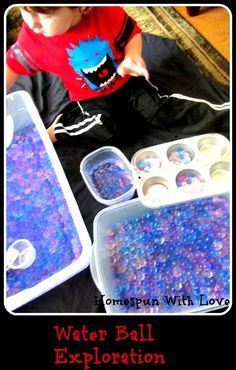 Water Ball, Bead and Bubble Exploration!