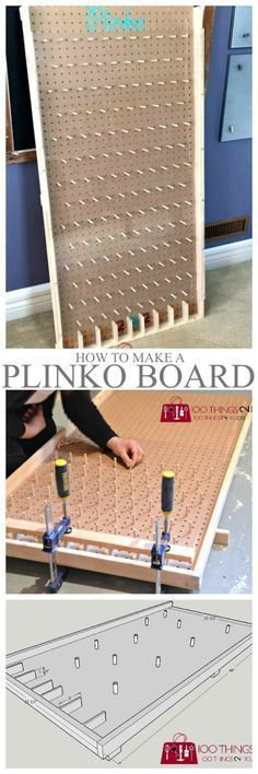 Woodworking Projects How to make a Plinko board More - The easiest way to make a giant Plinko board for school carnivals or backyard fun. How to make a Plinko board. Backyard Games, Outdoor Games, Outdoor Fun, Backyard Ideas, Plinko Board, Plinko Game, Fall Festival Games, Fall Festivals, Fall Carnival