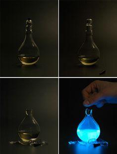 human blood powered lamp (aaaaarrgh!!)