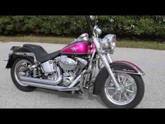 USED CUSTOM PINK HARLEY DAVIDSON DELUXE SOFTAIL FOR SALE TAMPA SPRING HI...