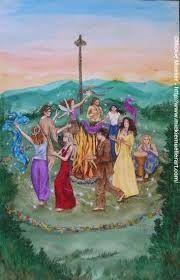 Beltane el dia 1 de Mayo una festividad ancestral de la fertilidad y la luz.