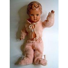 Schildkröt Celluloid Puppe 29 Ursel - original aus den 50er Jahren