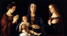 G. Bellini. Madonna and Child with Two Saints (Sacra Conversazione). Venise. Accademia
