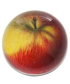 Red Apple Glass Dome Paperweight by John Derian