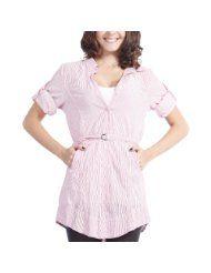 Doublju Womens Wrinkle Long Shirt (WS002)