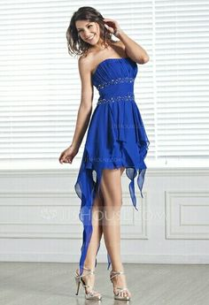 Royal Blue Prom Dress from JJHouse.com