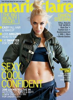 Fashion Foie Gras  Gwen Stefani covers Marie Claire October 2012 Style  Icons 2fdf639cfc813