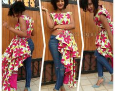 Femi ankara wrap top/ Ankara shirt / African top / by AdinkraExpo