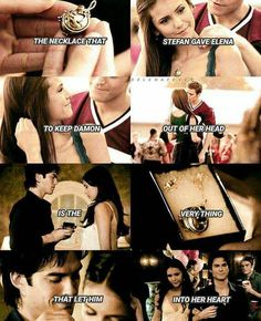 And this people is what we call how to truly love someone. Damon literally loved Elena while she was with Stefan and he loved her so much that he was willing to put aside his feelings cause he knew how much Stefan meant to her!