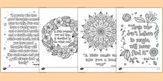 Roald Dahl Quotes Mindfulness Colouring Posters - Great for a variety of activities, you can use them to reinforce fine motor skills, as inspiration for independent writing, or just for fun! Roald Dahl Day, Roald Dahl Quotes, Mindfulness For Kids, Mindfulness Activities, Primary School Counselling, Roald Dahl Activities, Middle School Health, Mindfulness Colouring, The Twits