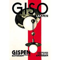 """Buyenlarge Giso Lamps by Willem Gispen Vintage Advertisement Size: 66"""" H x 44"""" W x 1.5"""" D"""