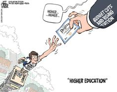 Do you think the costs of higher education is too high? #politicalcartoon